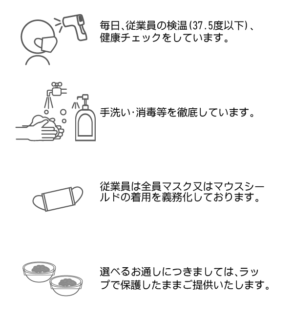 検温・手洗い・マスク